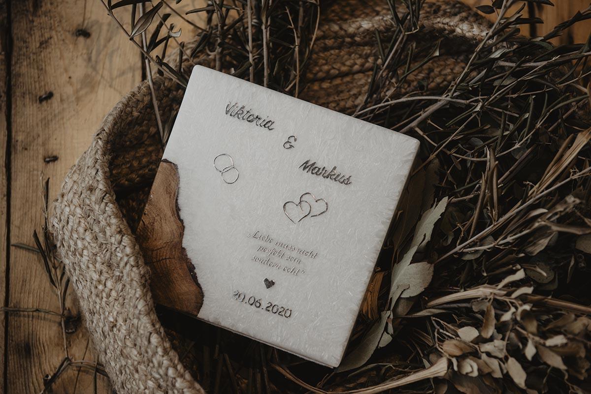 Hochzeitskerzen von Kreativstüberl