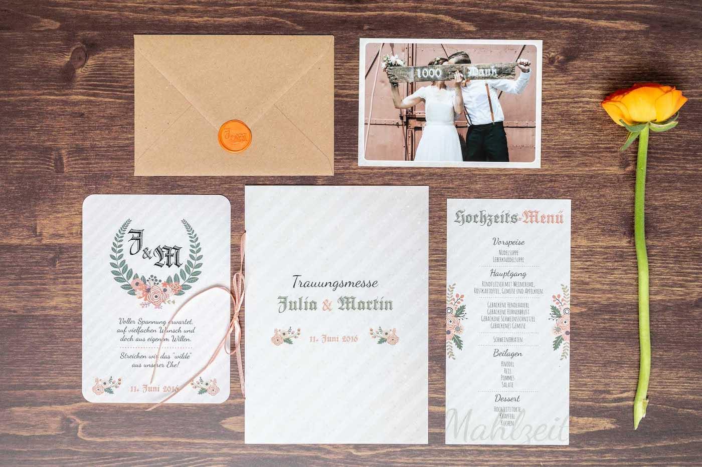 Hochzeitspapeterie von Bloom Wedding