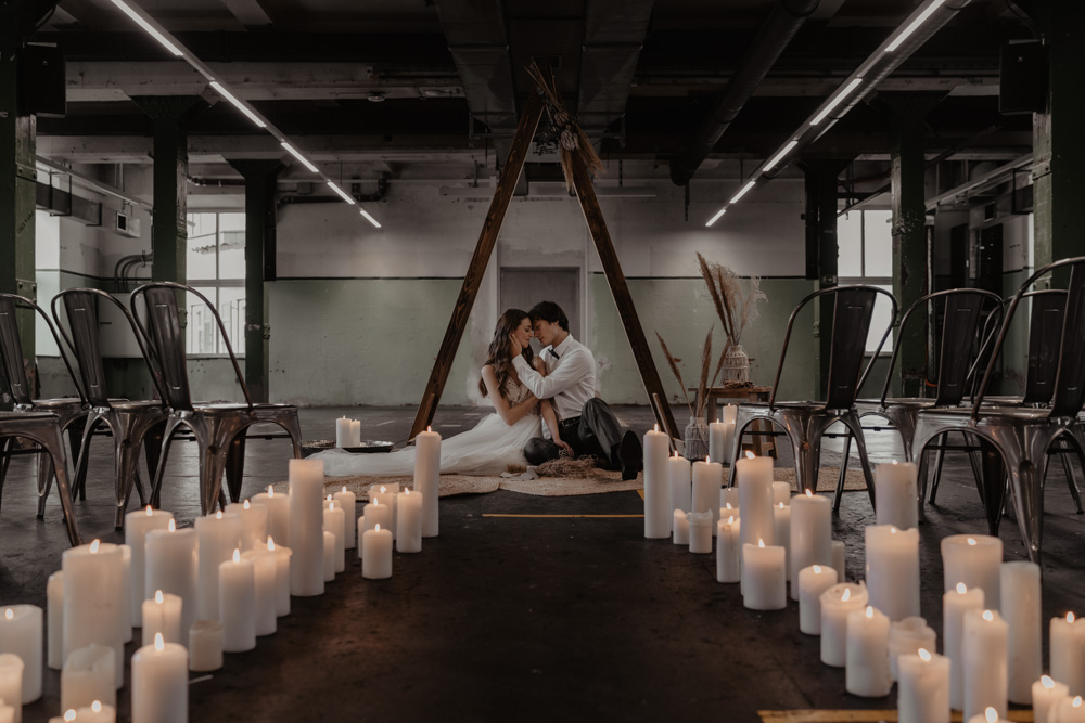Industrial incontra Boho: rottura di stile con colori non convenzionali
