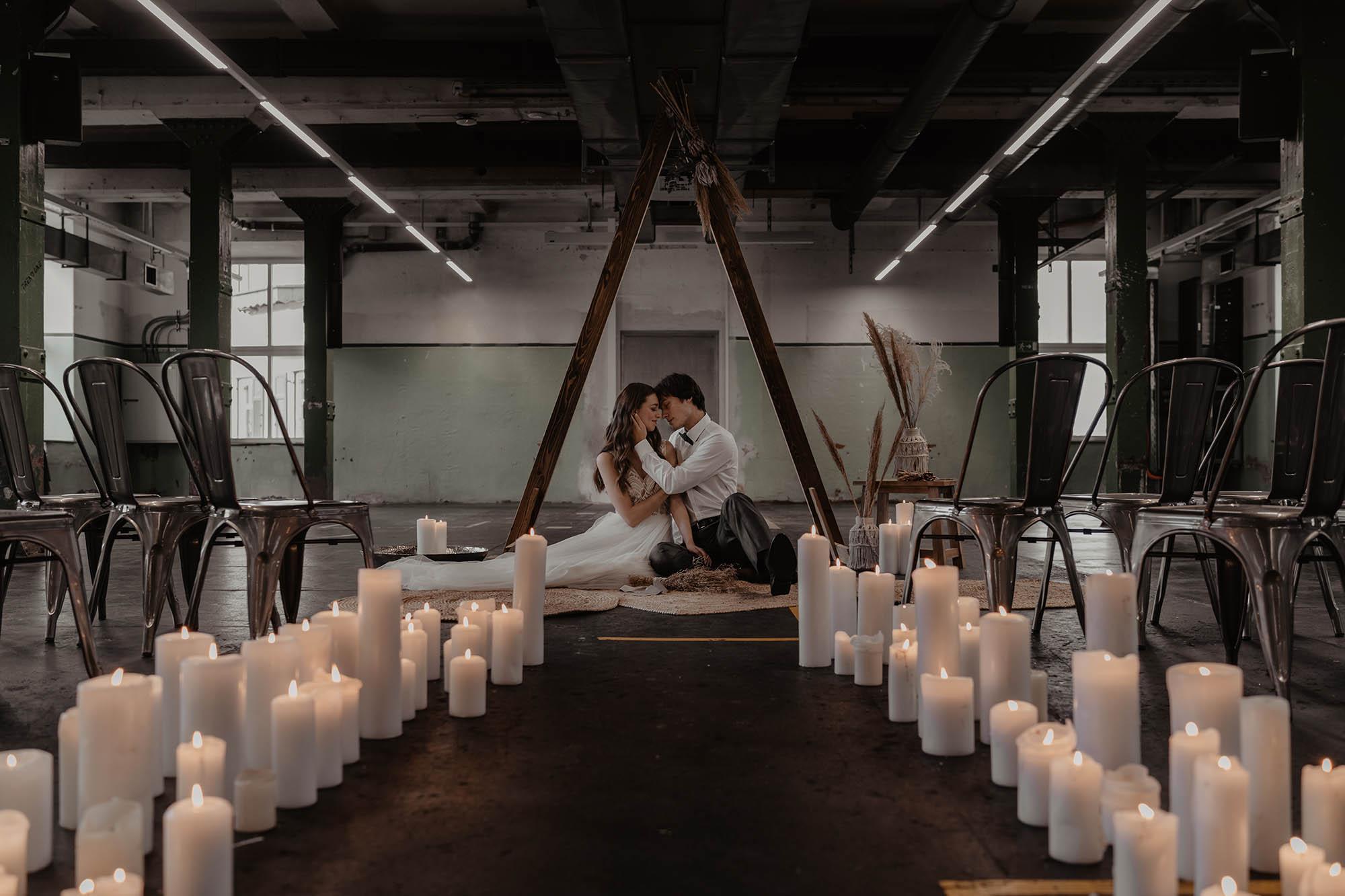 Industrial meets Boho: Stilbruch in unkonventionellen Farben