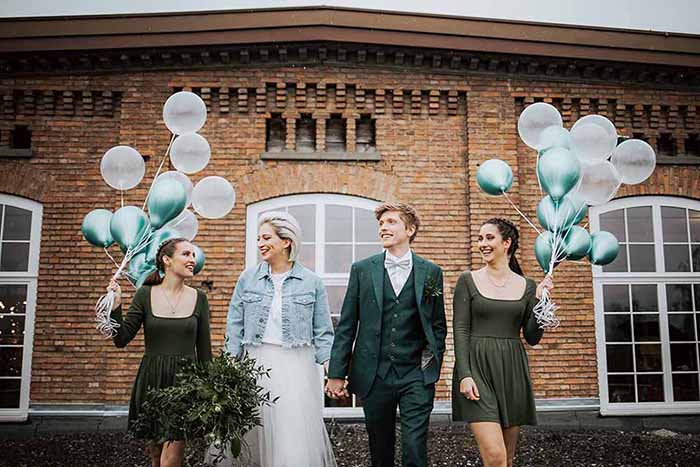 Hipster Wedding in de Klarenbrunn fabriek