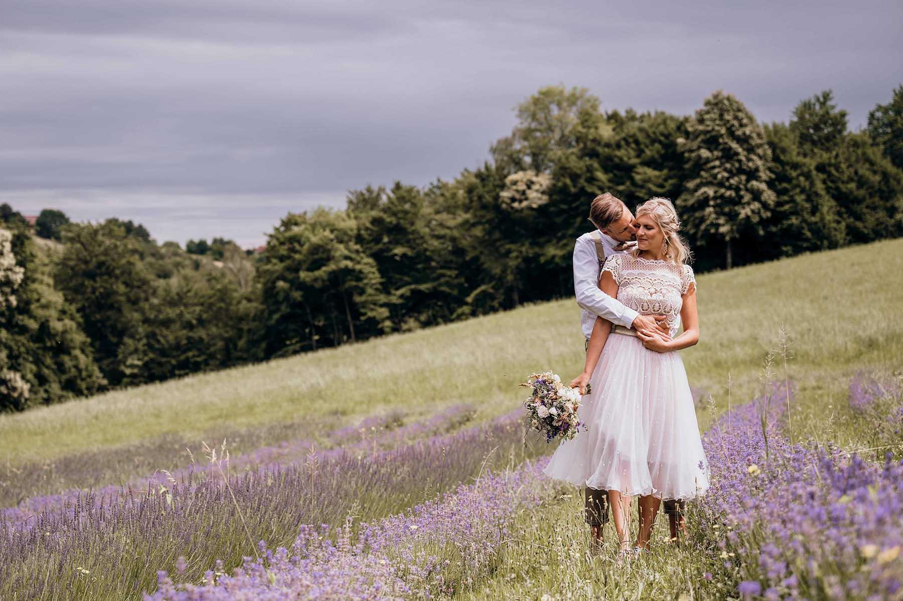 Verliebt im südsteirischen Lavendelfeld