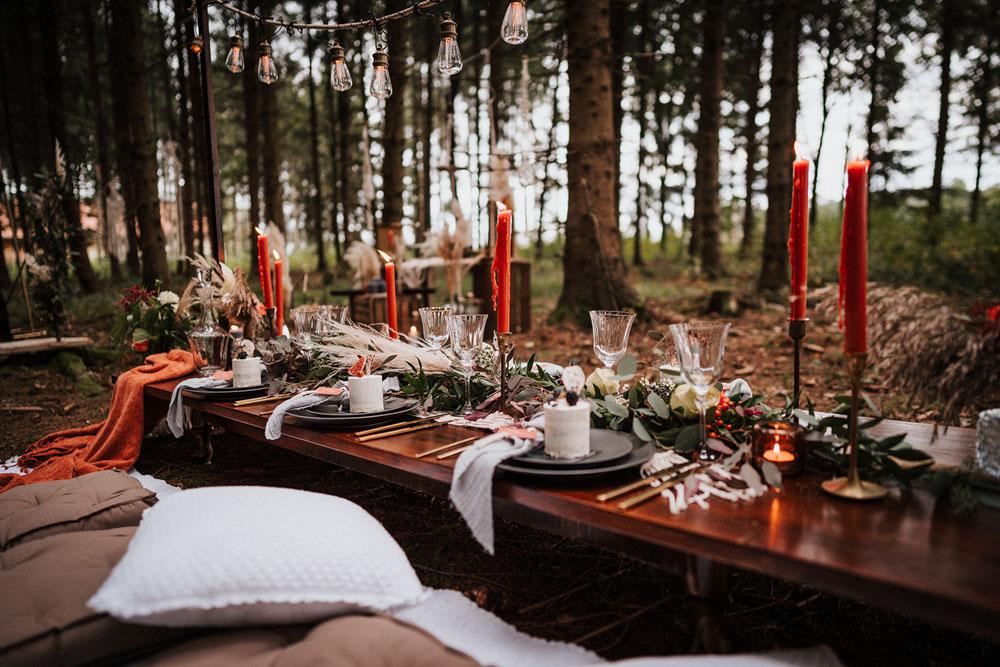 Wild Bride –  Boho-Herbsthochzeit im Wald