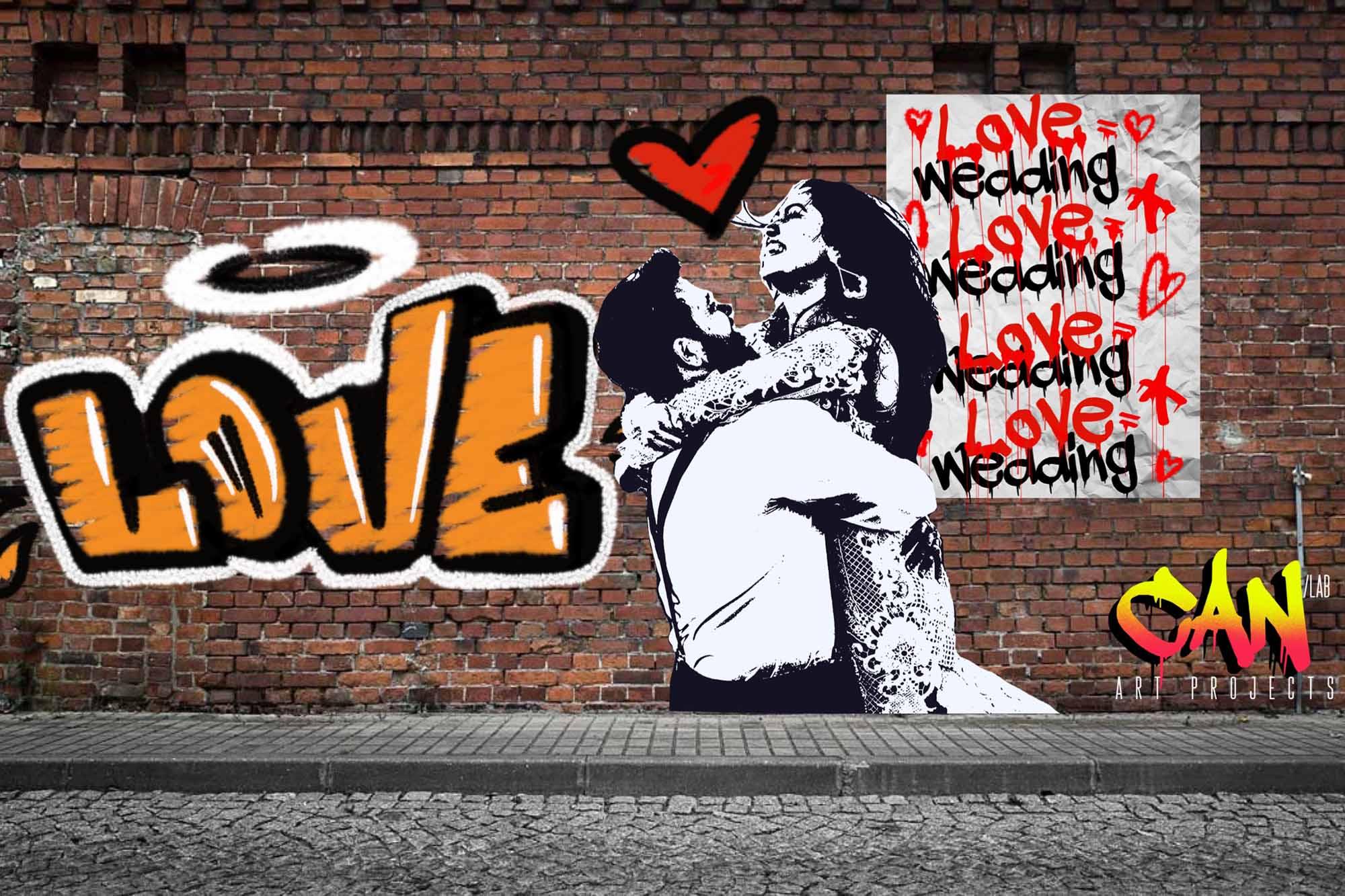 Hochzeits-Graffiti von CanLab