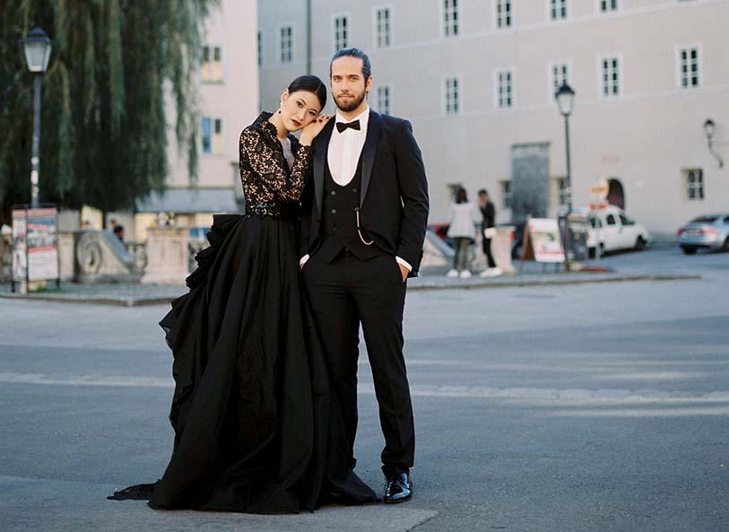 Dark Desire – Nostalgische Hochzeit in elegantem Schwarz