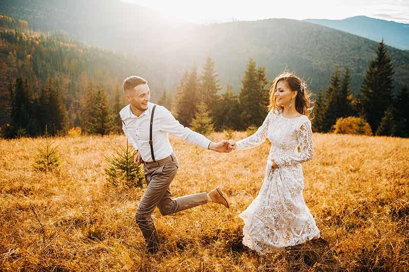 Il momento migliore per le riprese degli sposi