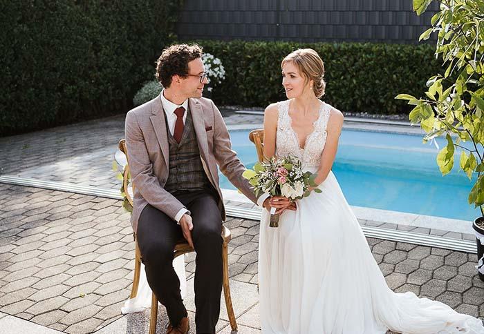 Corona Wedding: matrimonio in casa nel giardino