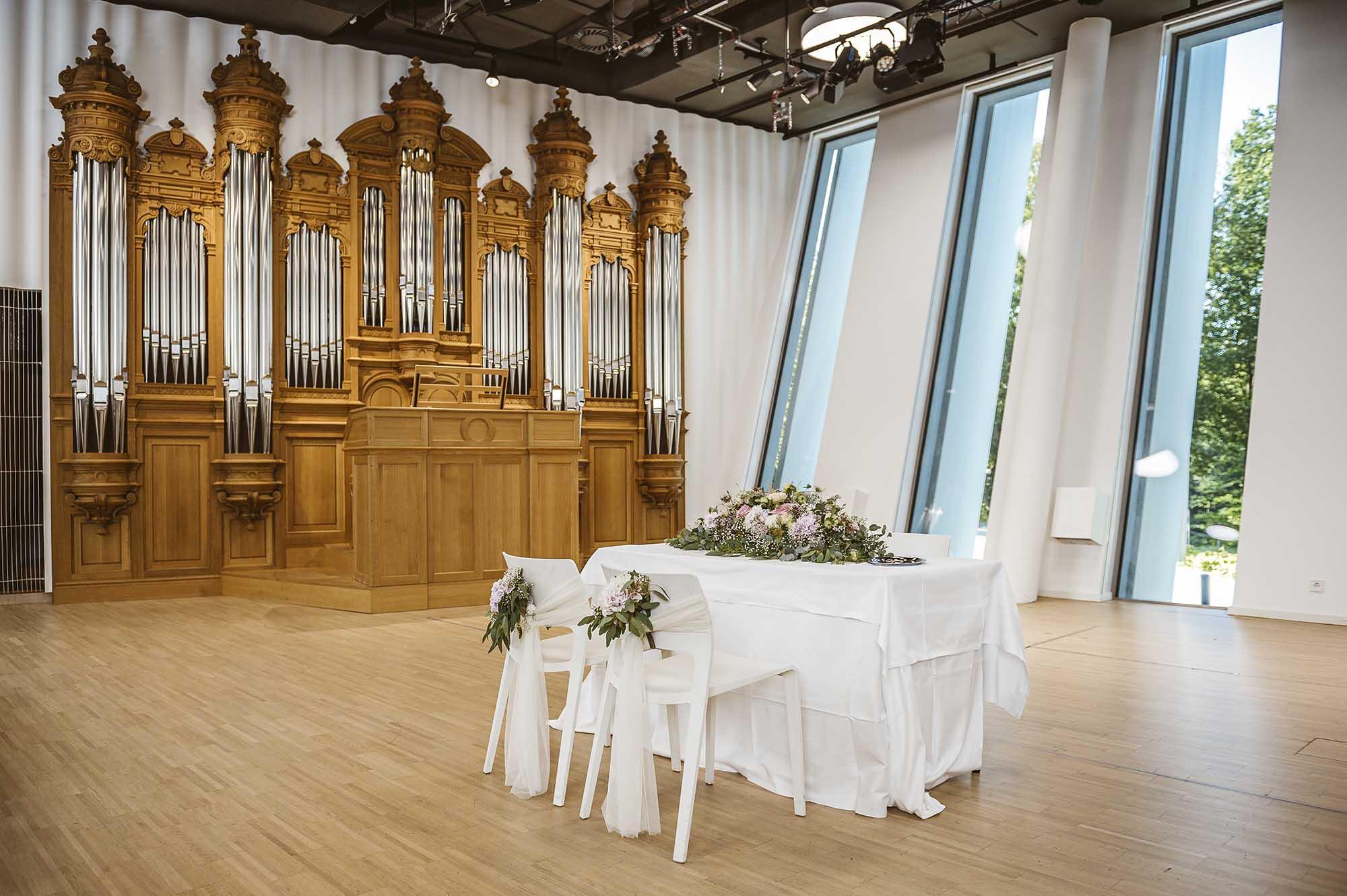 Die Bruckneruni als Hochzeitslocation