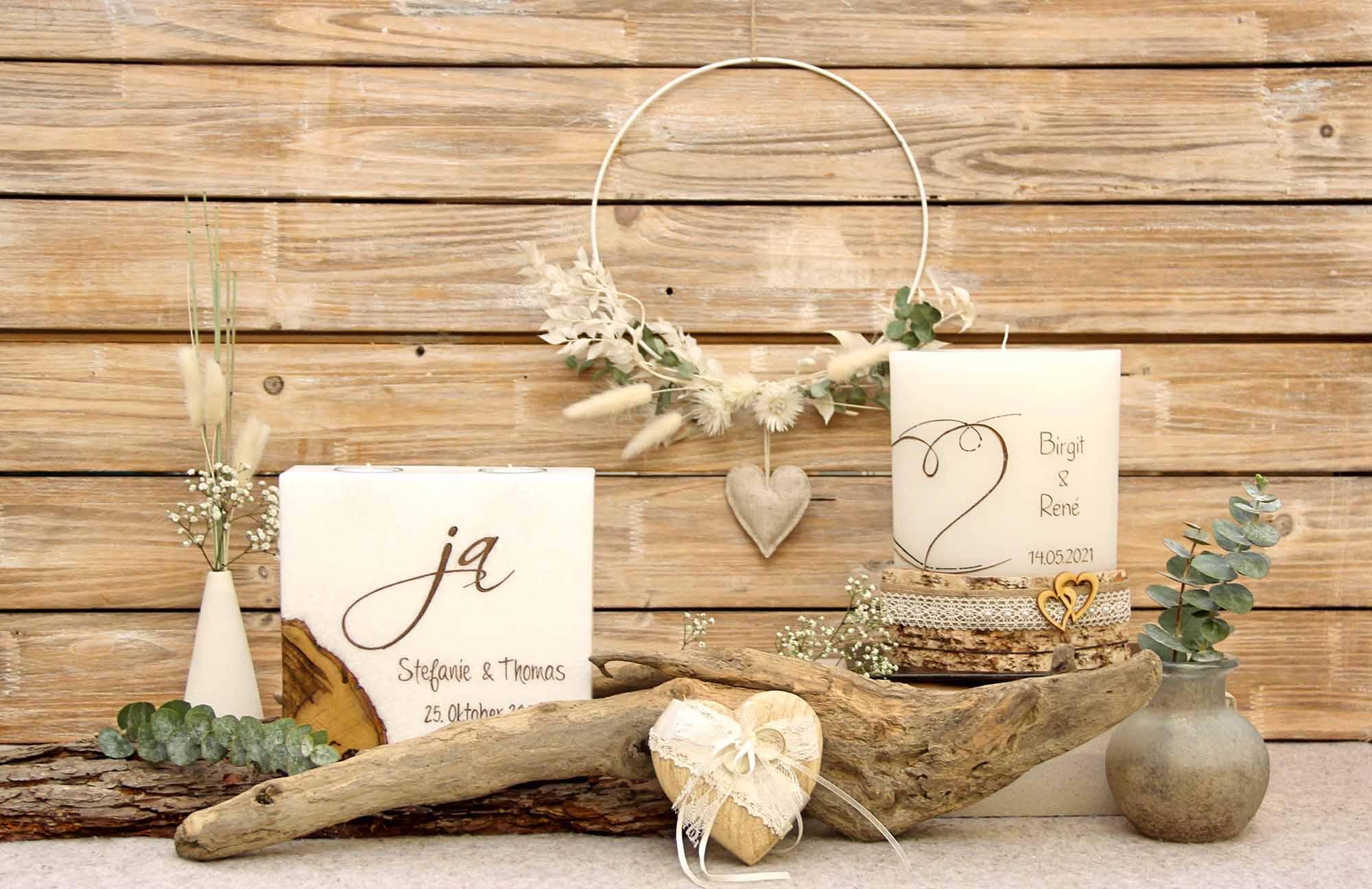 Hochzeitskerzen von Kerzenliebe