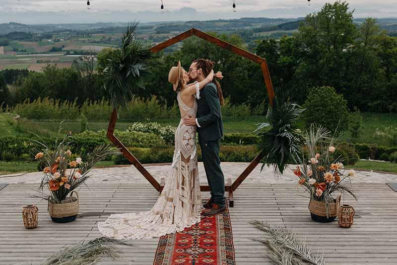 Boho-Hochzeit mit mexikanischen Einflüssen