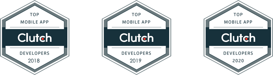 Clutch Top Developer Badges 2018, 2019, and 2020