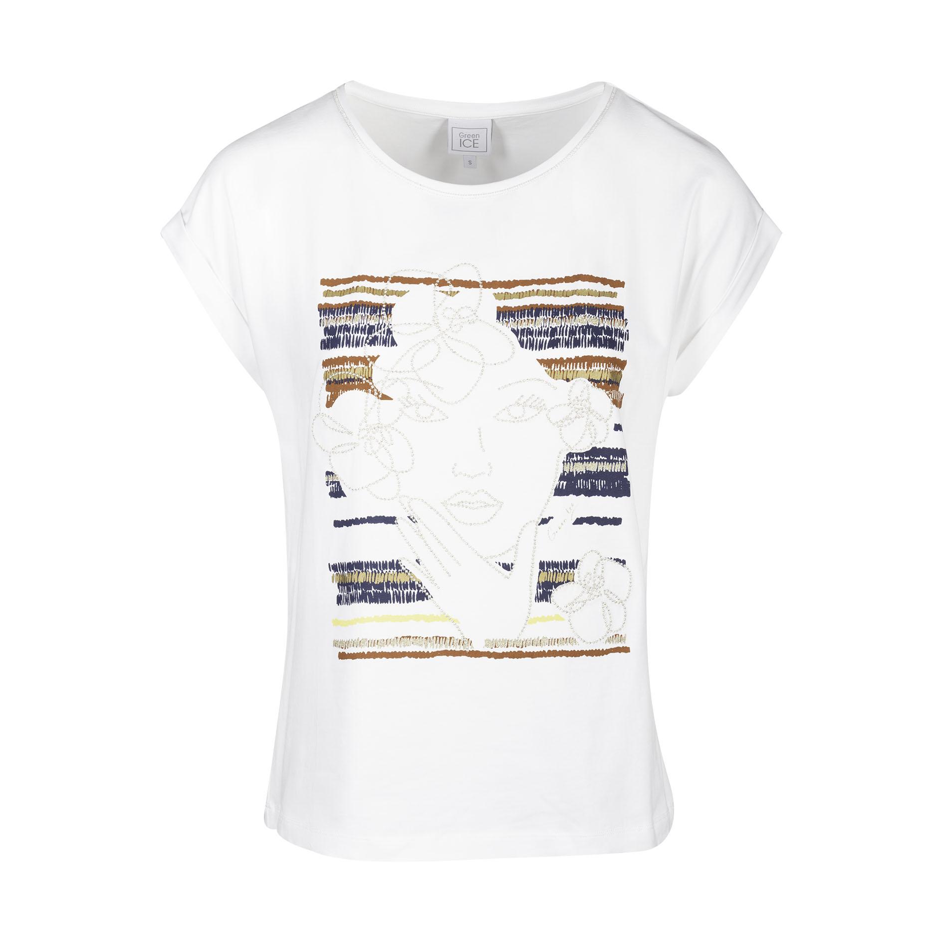T-Shirt 'Clemma' White/Yellow