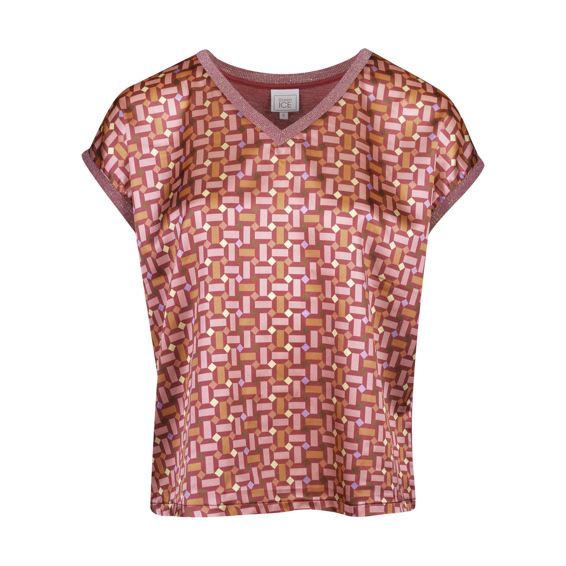 T-Shirt 'Calapan' Framboise