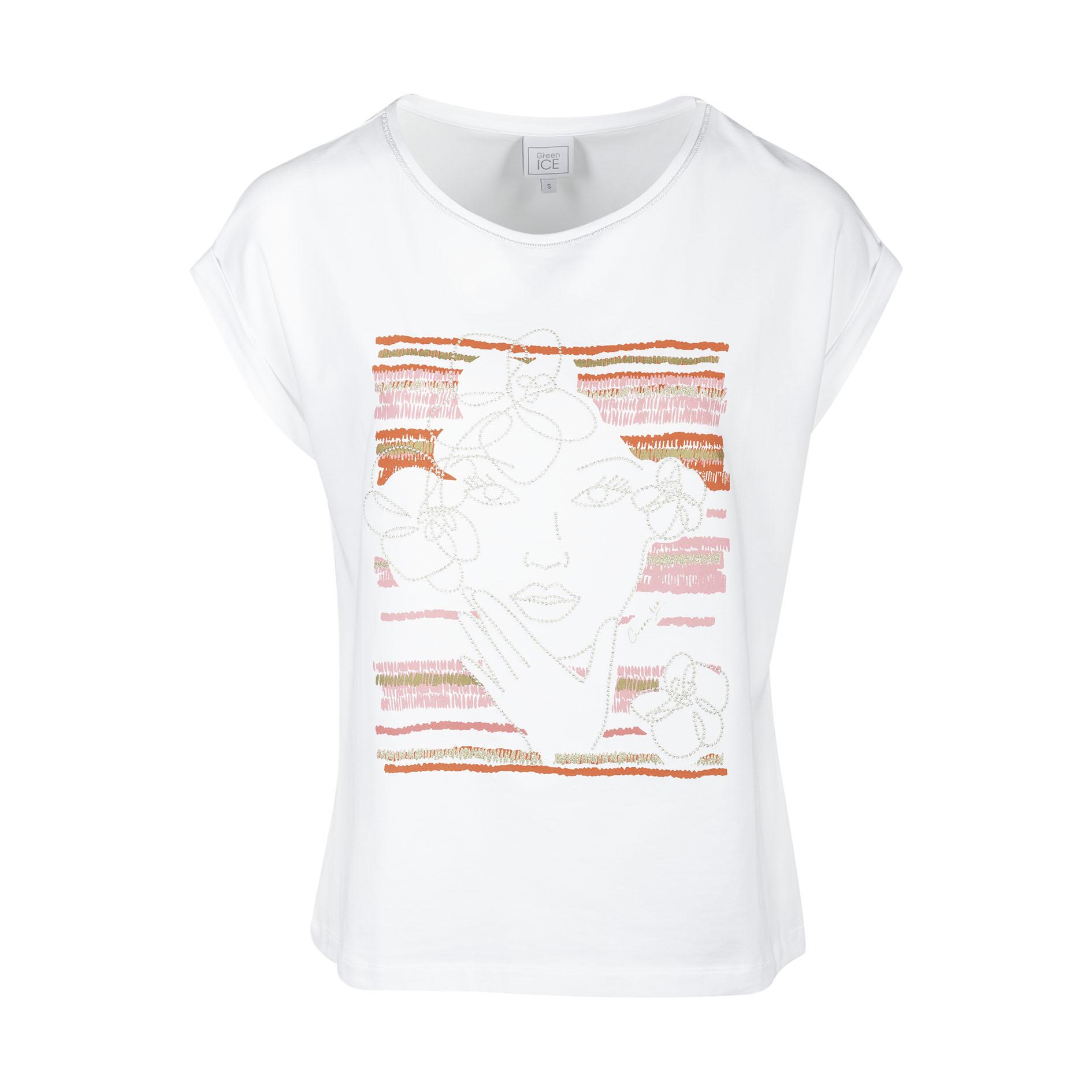 T-Shirt 'Clemma' White/Rose