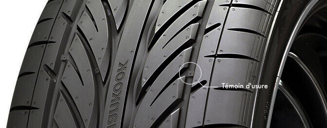 témoin d'usure pneu