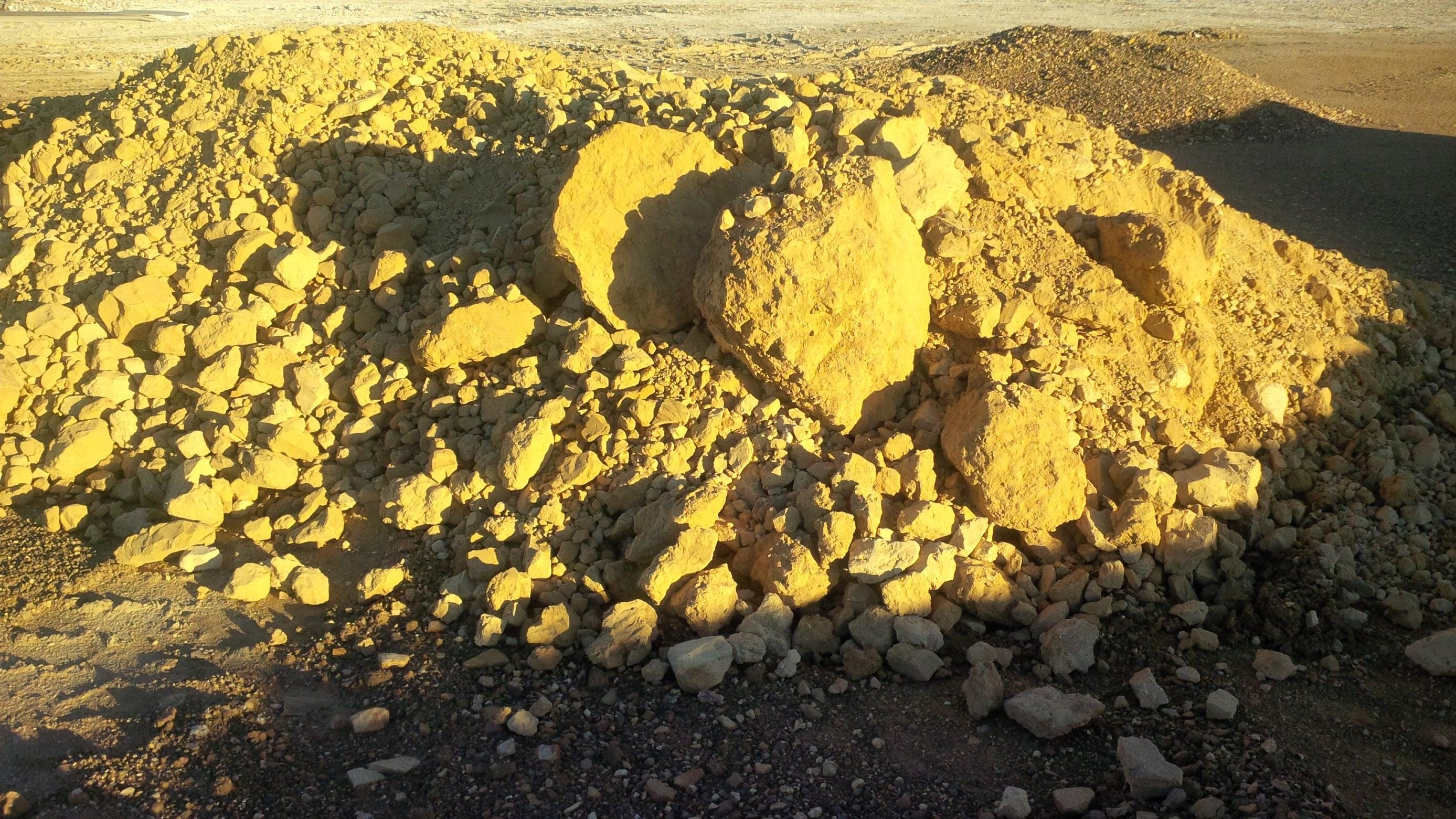 Fosfat kayası.