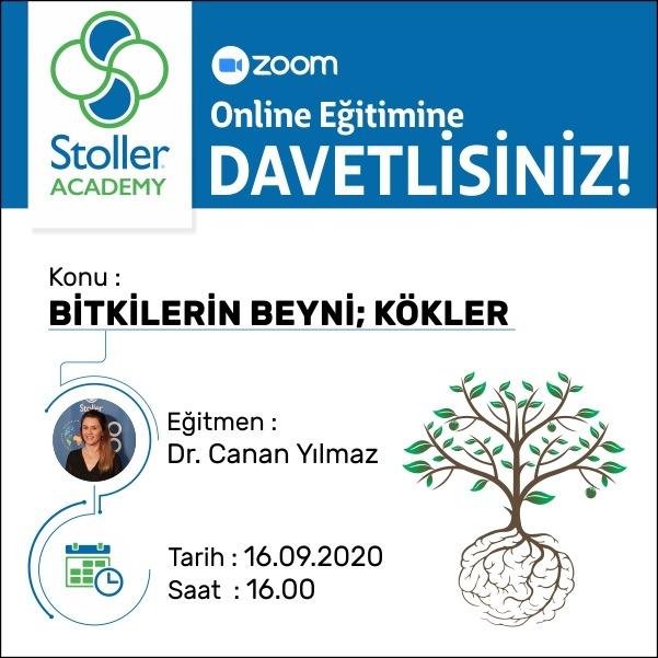 """16 Eylül 2020 saat 16:00'da """"Bitkilerin Beyni: Kökler"""" isimli eğitim Dr. Canan YILMAZ tarafından verilecek."""