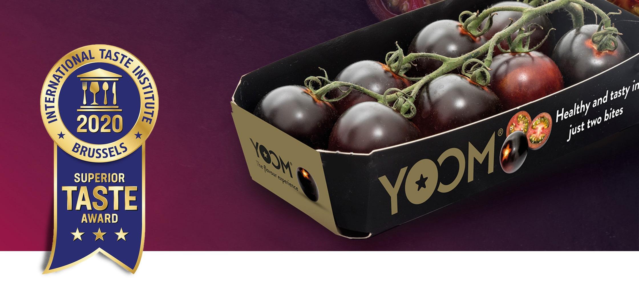 """Syngenta'nın yeni mor kokteyl domatesi YOOM ™, Uluslararası Tadım Enstitüsü'nün """"üstün lezzet ödülüne"""" layık görüldü."""