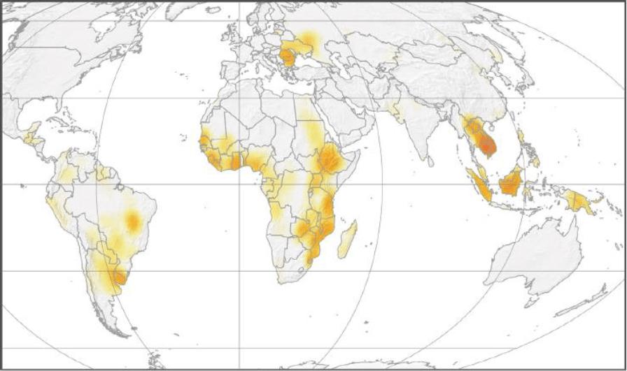 Küresel Tarım Anlaşmalarını İçeren Isı Haritası (2016)