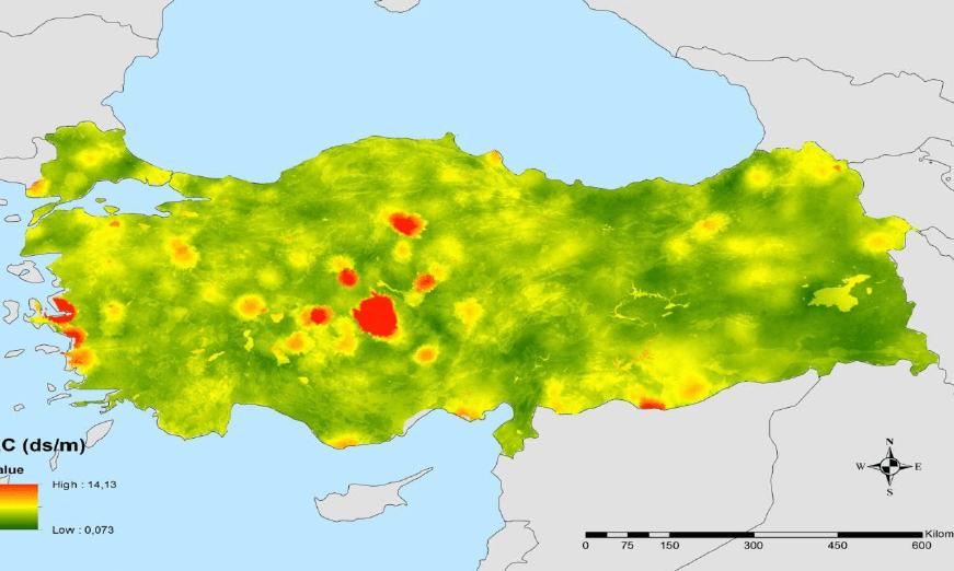 Türkiye'nin tuzluluk haritası