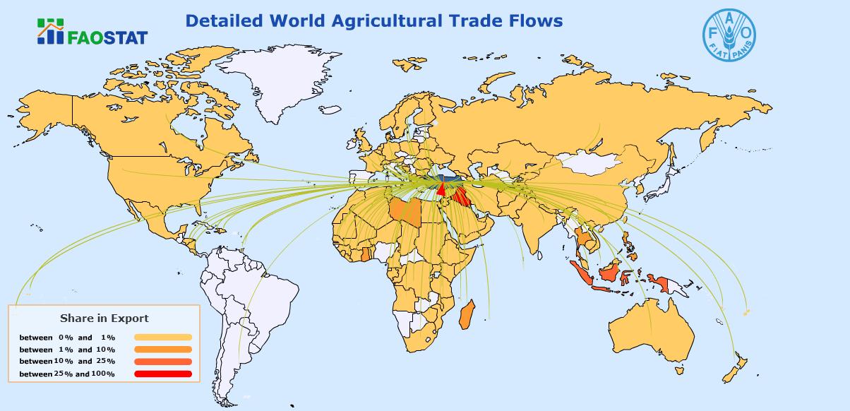 Türkiye'nin buğday unu ihracatı noktaları