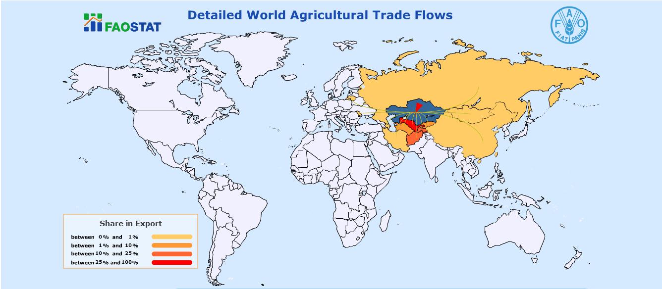 Kazakistan'ın buğday unu ihracatı noktaları