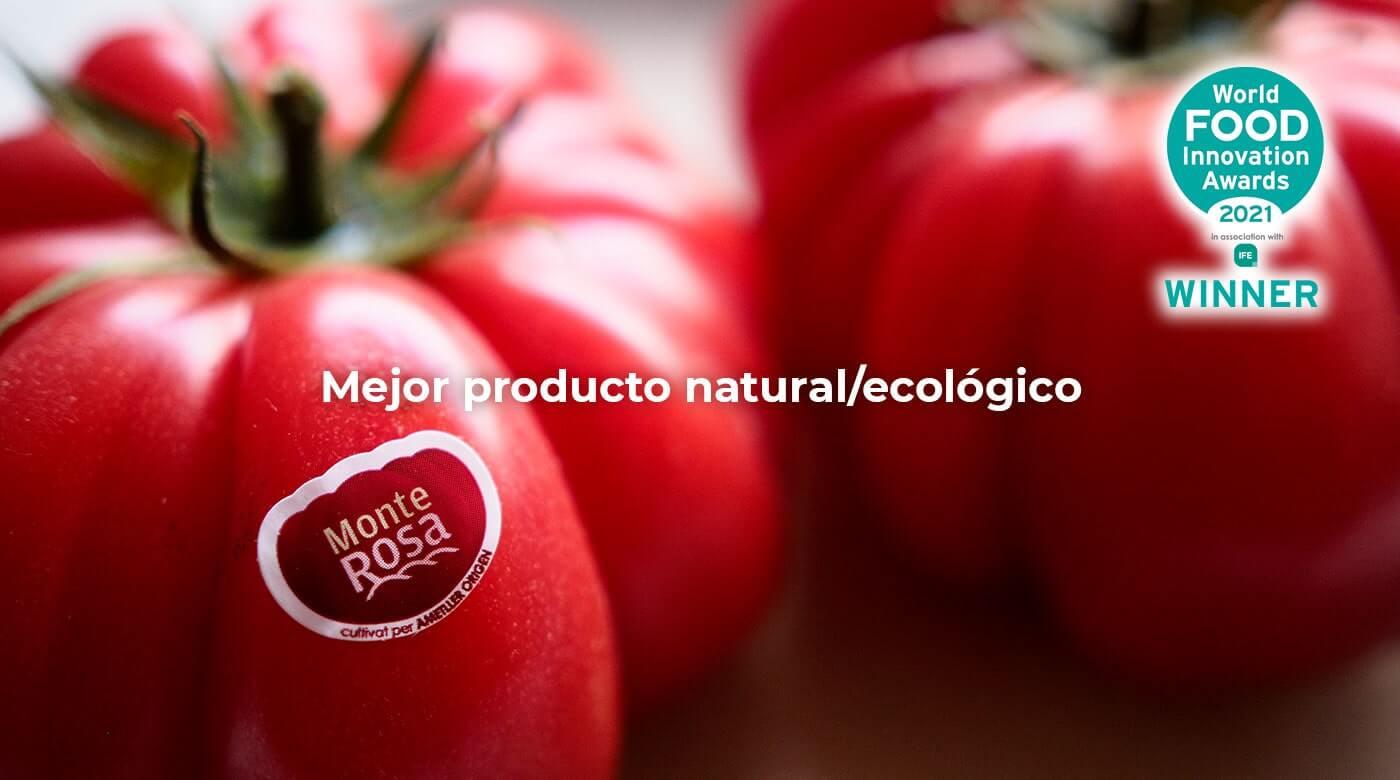 Semillas Fito'nun Monterosa domatesi, Dünya Gıda İnovasyon Ödülleri'nde en iyi doğal ve organik ürün ödülünü aldı.