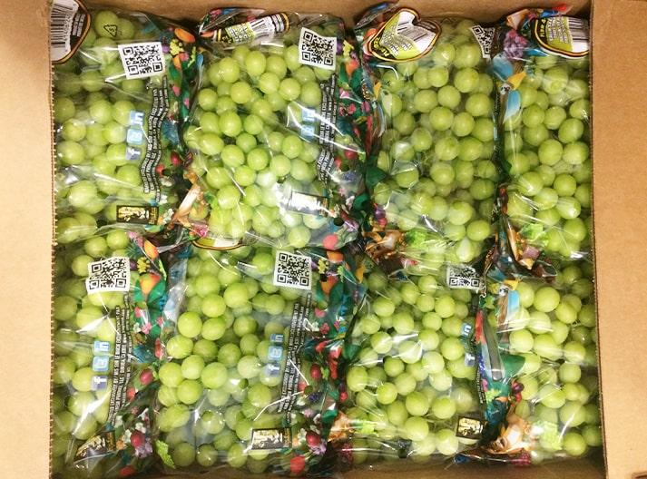 Ambalajlı üzümler