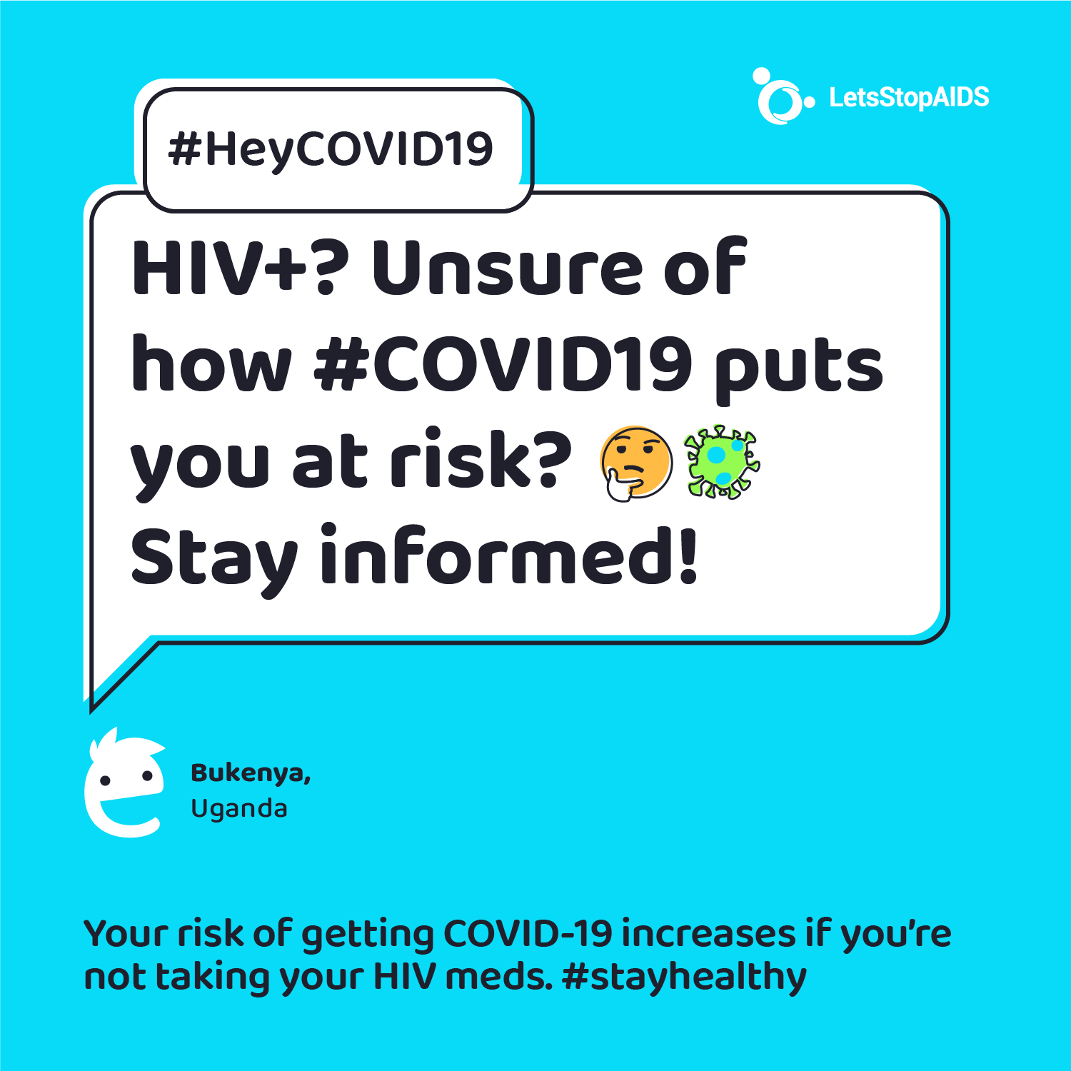 HIV+? Unsure of how COVID-19 puts you at risk? 🤔 Stay informed!