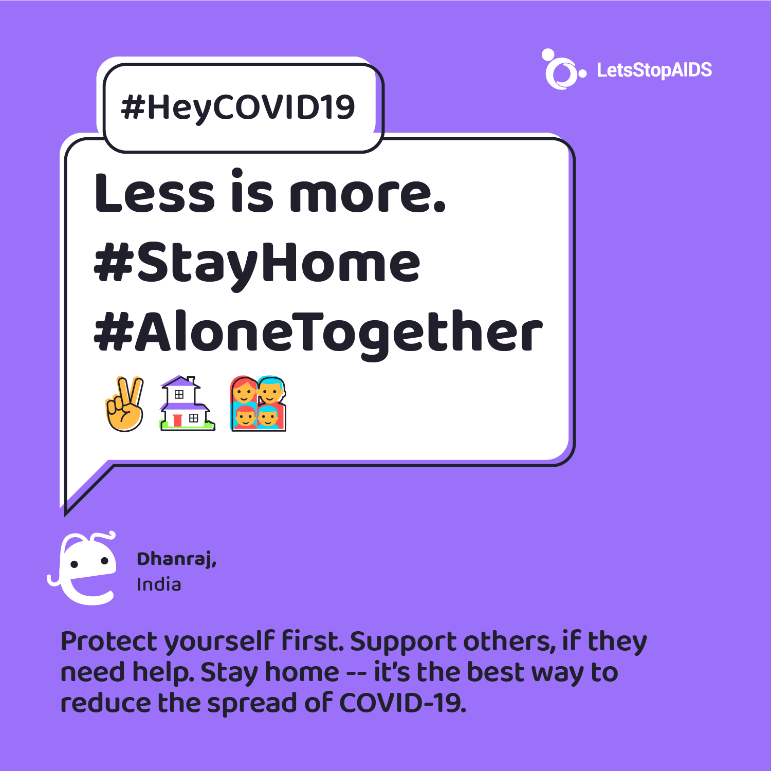 Less is more. #StayHome #AloneTogether