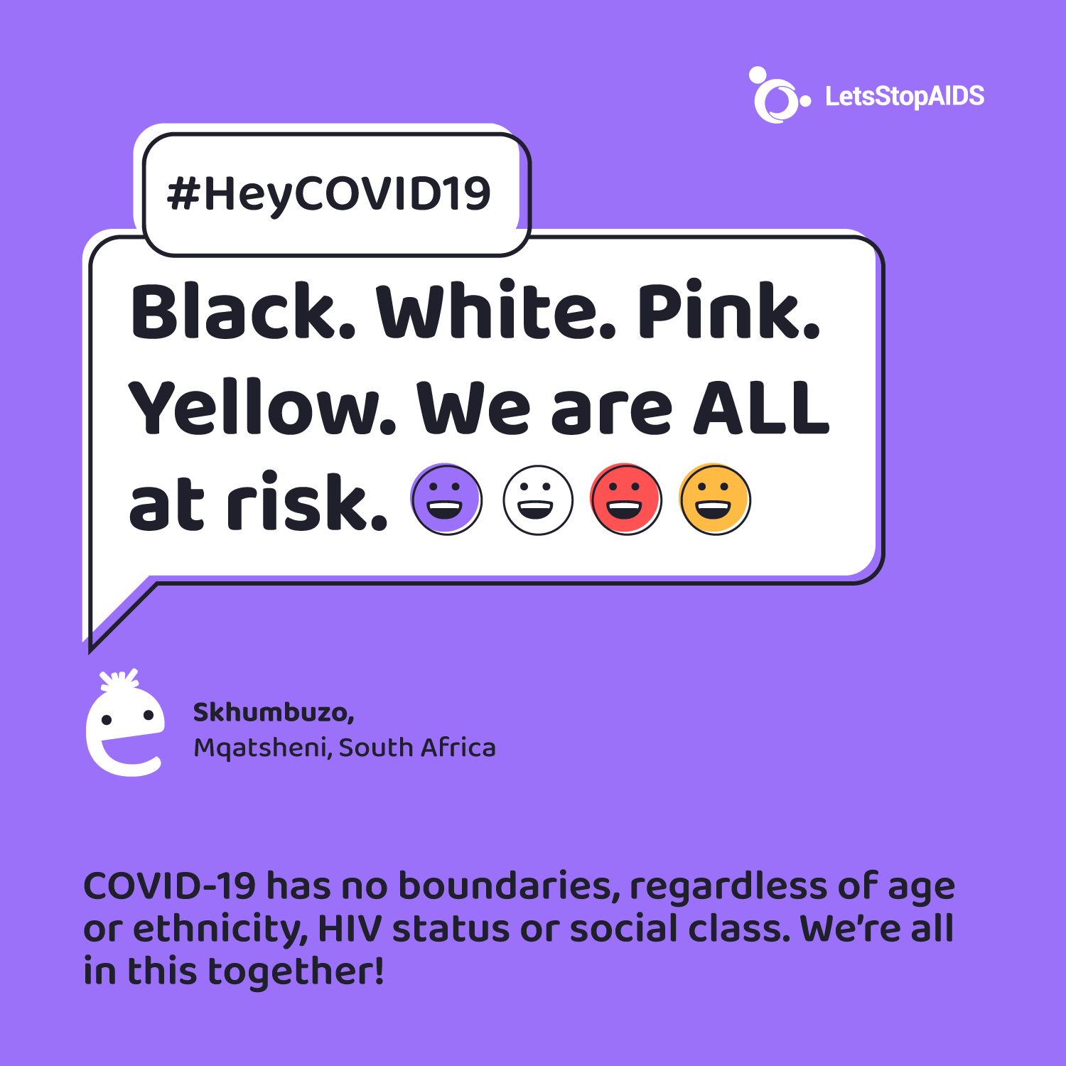 Black. White. Pink. Yellow. We are ALL at risk.