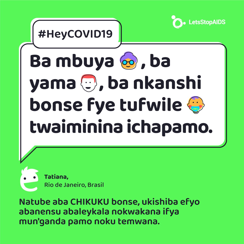 Ba mbuya, ba yama, ba nkanshi bonse fye tufwile twaiminina ichapamo.