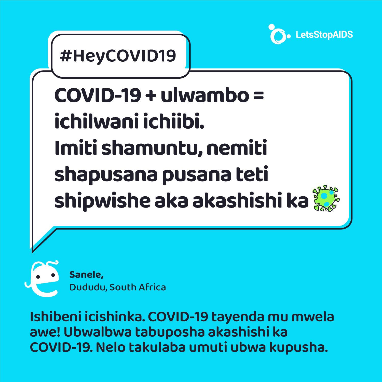 HIV+? Tamwishibe ati aka ka COVID-19 kengamichita nganamukwata HIV? 🤔Ishibeni mukwai efyo mwingayi chingilisha.