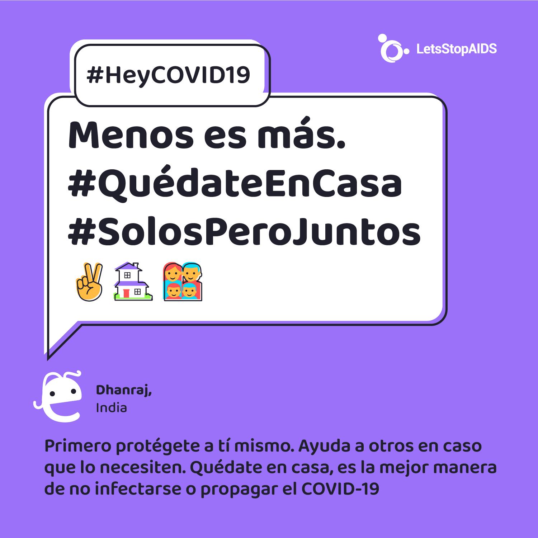 Menos es más. #QuédateEnCasa #SolosPeroJuntos