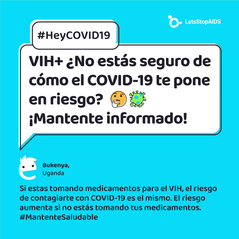 VIH+? No estás seguro de cómo el COVID-19 te pone en riesgo? 🤔 Mantente informado!