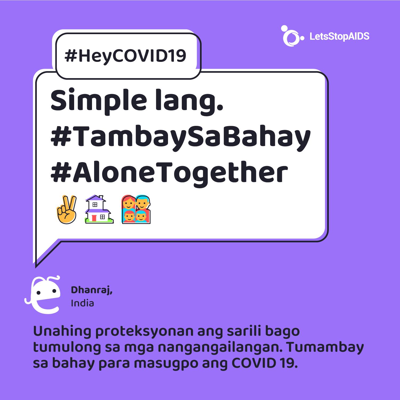 Simple lang. #TambaySaBahay #AloneTogether