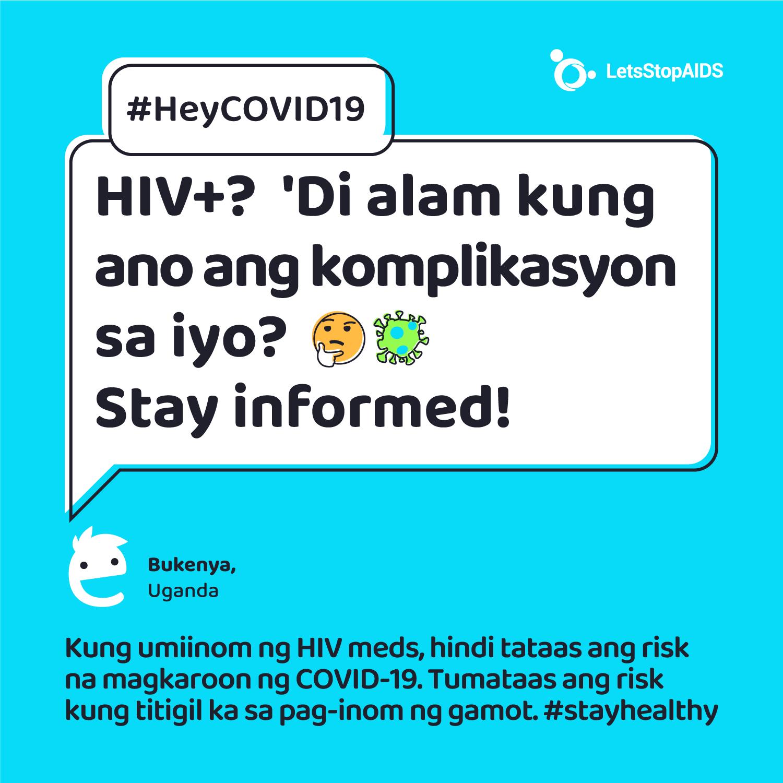 HIV+? 'Di alam kung ano ang komplikasyon sa iyo ng #COVID19? 🤔 Stay informed!