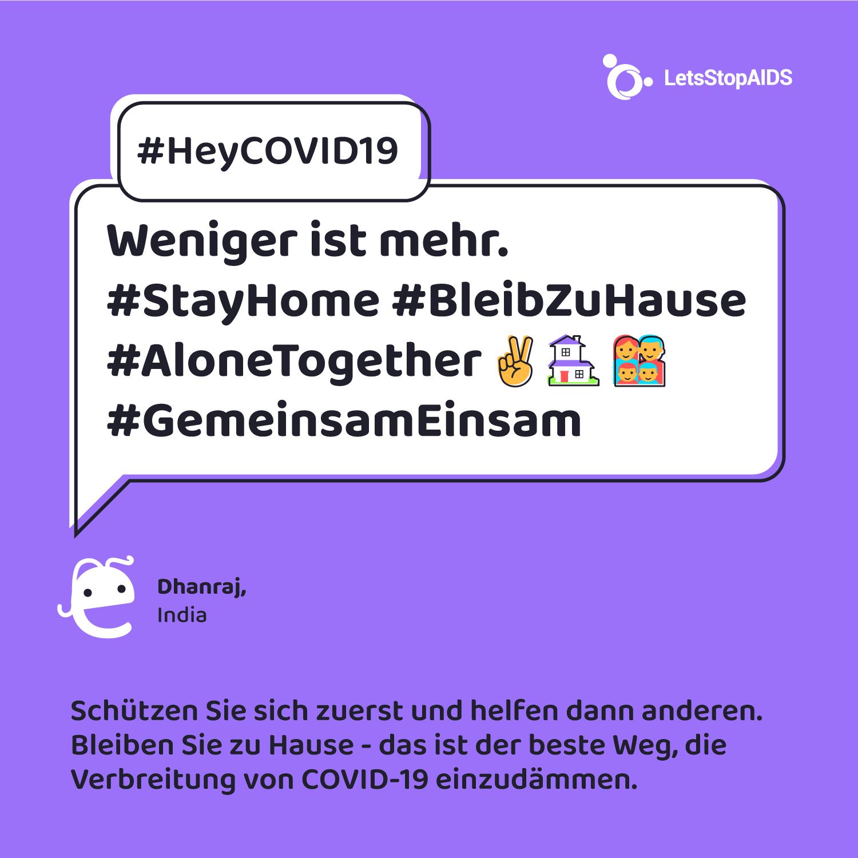 Weniger ist mehr. #StayHome #BleibZuHause #AloneTogether #GemeinsamEinsam