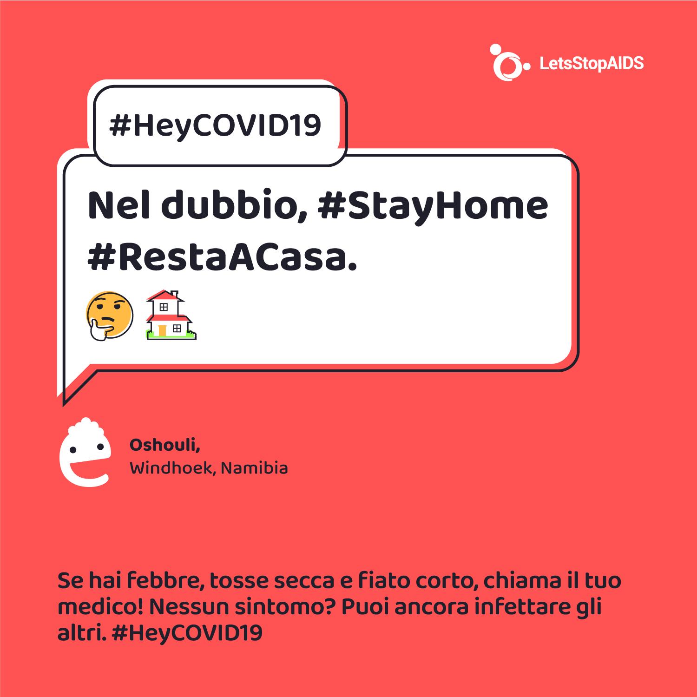 Nel dubbio, #StayHome #RestaACasa.
