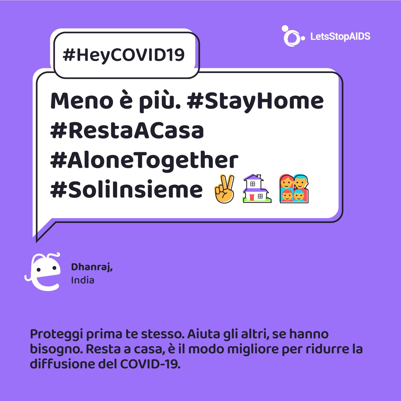 Meno è più. #StayHome #RestaACasa #AloneTogether #SoliInsieme