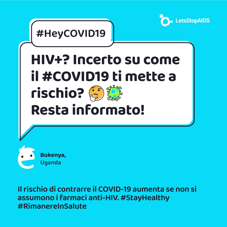 HIV+? Incerto su come il #COVID19 ti mette a rischio? 🤔 Resta informato!