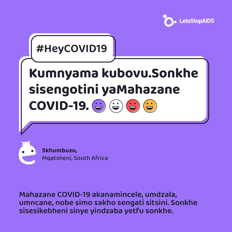 Kumnyama kubovu. Sonkhe sisengotini yaMahazane COVID-19.