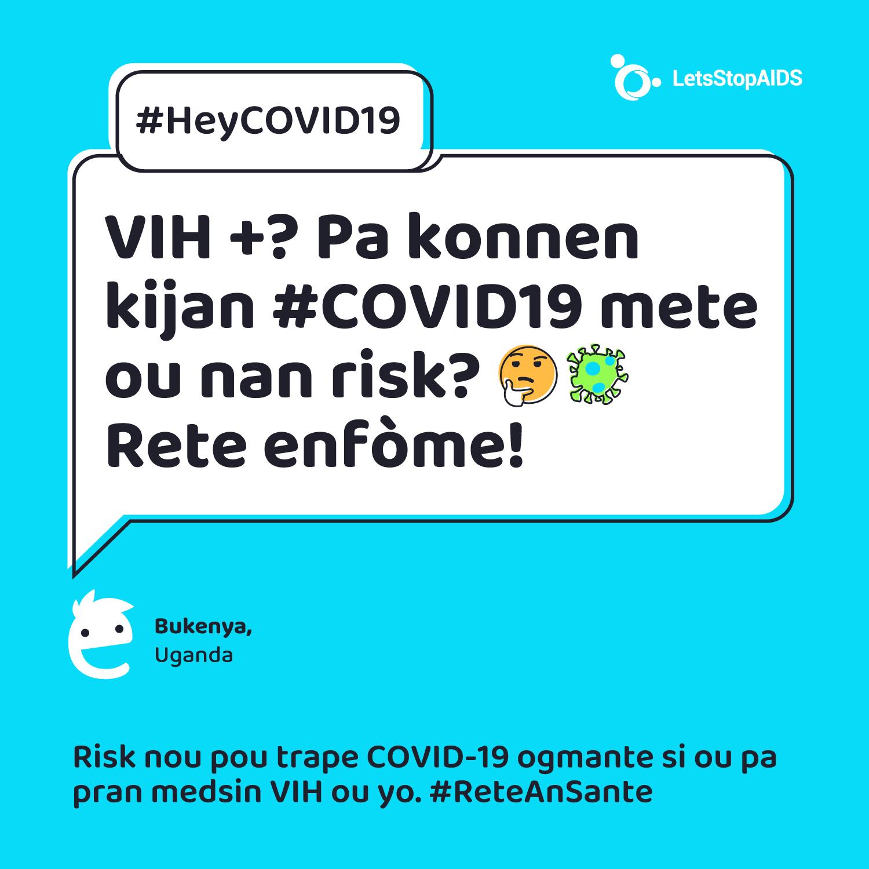 VIH +? Pa konnen kijan #COVID19 mete ou nan risk? 🤔 Rete enfòme!