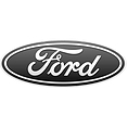 Black and white Ford logo