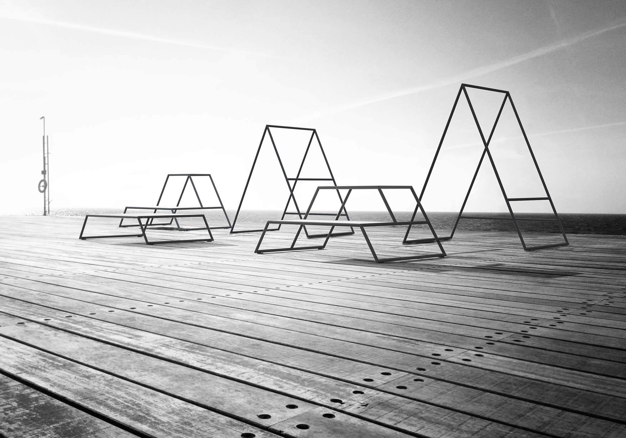 an outdoor gym on wood