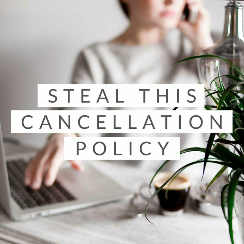 Cancellation policy for cleaning business