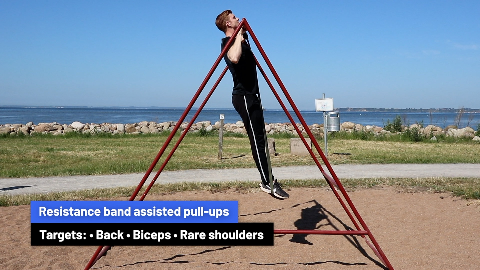 Resistance band assisted pull-ups