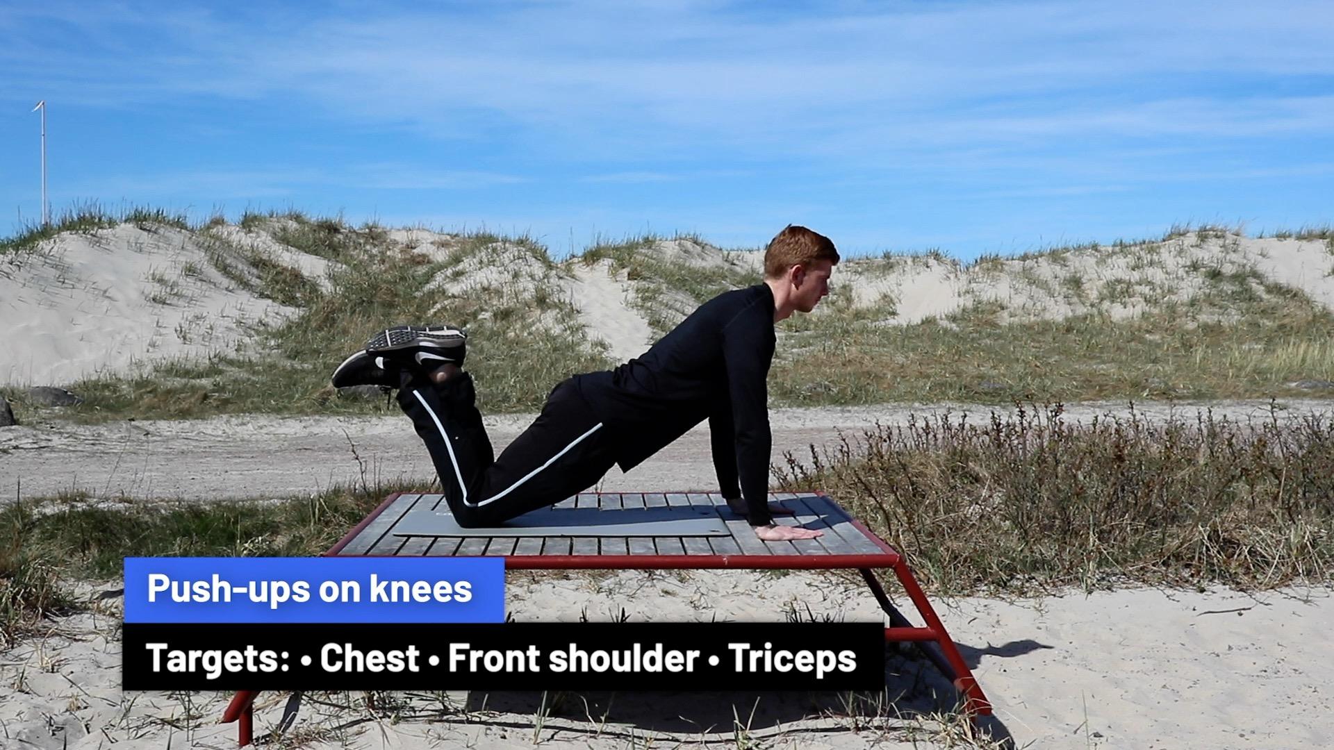 Push-ups on knees