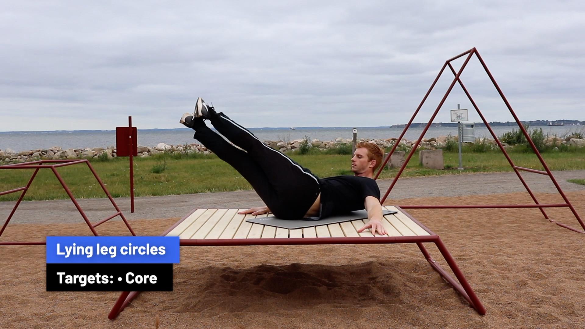 Lying leg circles