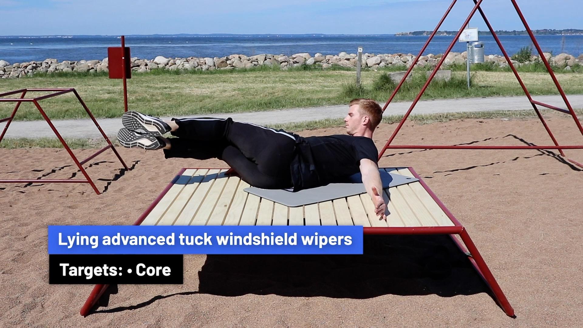 Lying advanced tuck windshield wipers